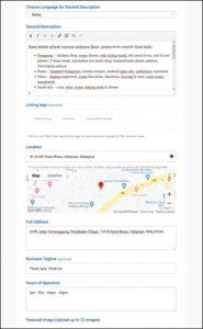 3. Help - Register Business - Fill your basic info 2