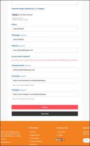 3. Help - Register Business - Fill your basic info 3