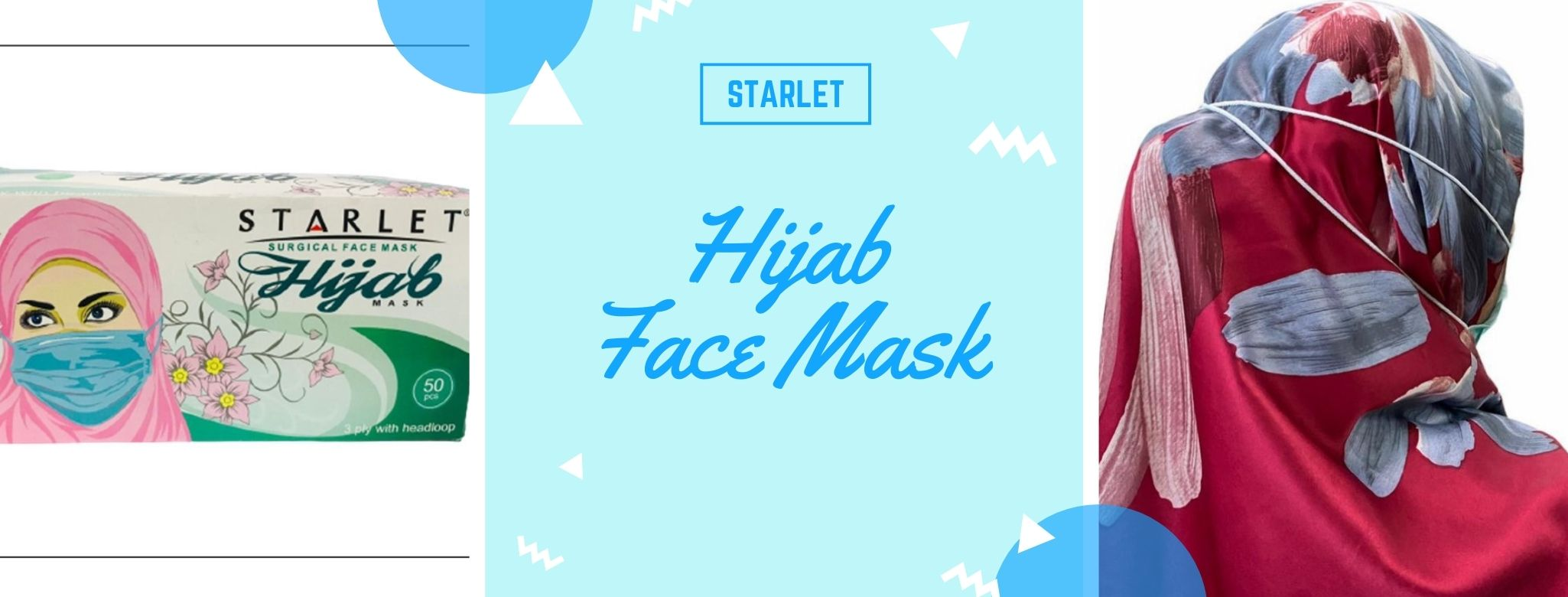hijab face mask banner for xpressmall